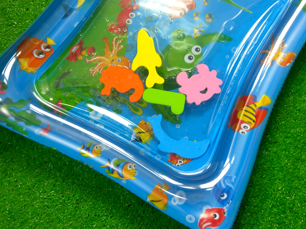 H0dd14af8fa31482a862564cf1b52bcf7Y 36 Designs Baby Kids Water Play Mat Inflatable PVC Infant Tummy Time Playmat Toddler Water Pad For Baby Fun Activity Play Center