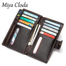 New business mid-length men's wallet litchi grain retro leather coin purse card holder