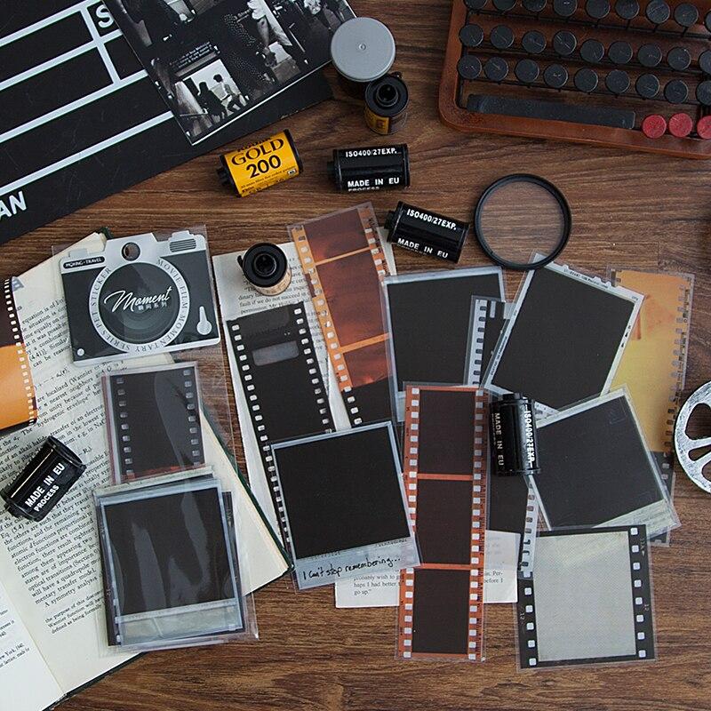 20 pcs/lot Movie Moment Series Decorative Stickers Scrapbooking DIY Note PET film Sticker Flakes Sta