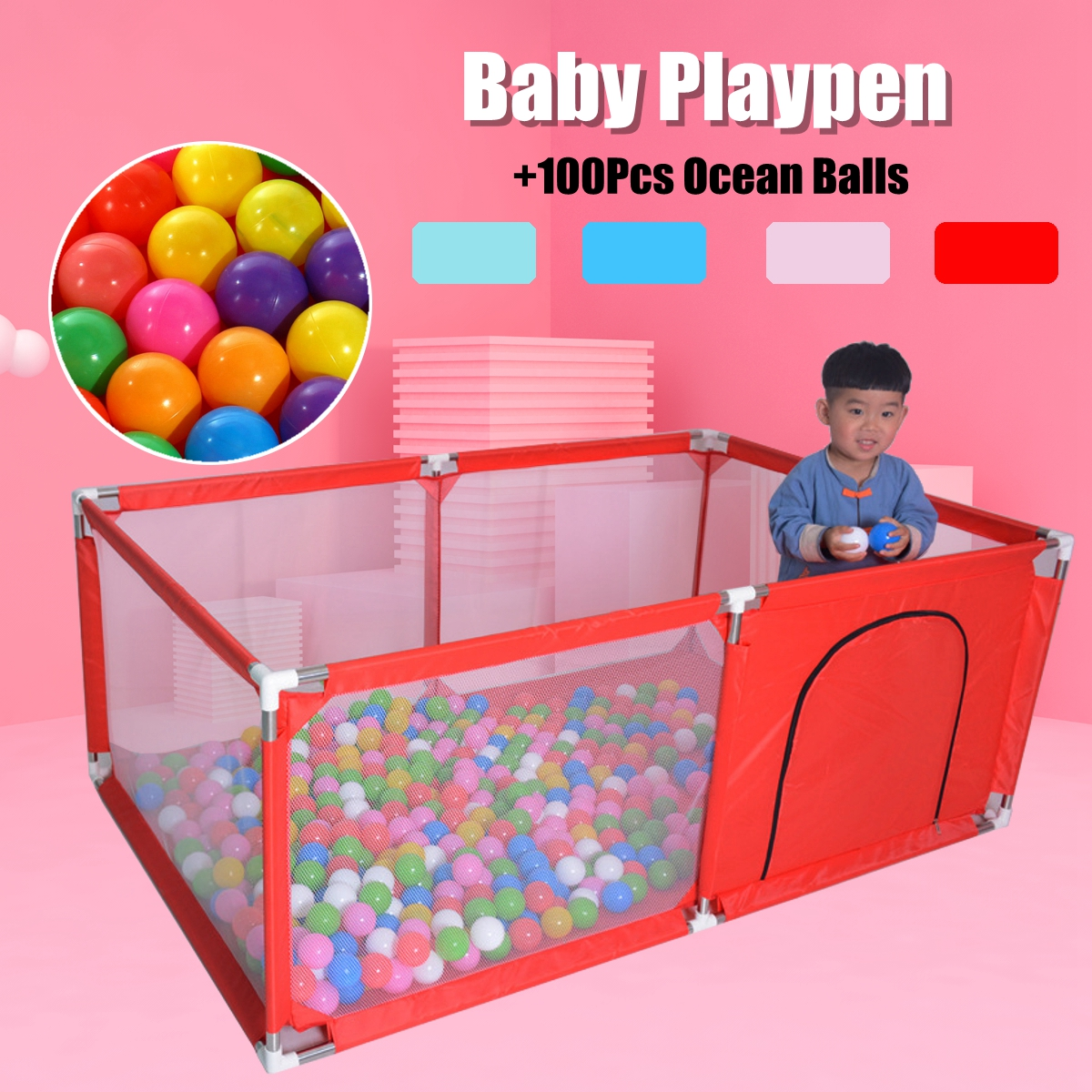 Baby Playpen 165x105cm For Children Pool Balls For Newborn Baby Fence Playpen For Baby Pool Children Playpen Kids Safety