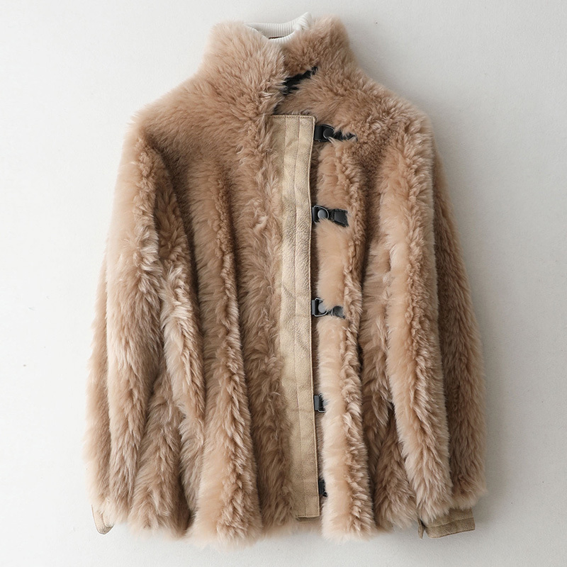 Real Fur Coat Female Wool Jacket Autumn Winter Coat Women Clothes 2020 Korean Vintage Sheep Shearling Tops Manteau Femme ZT4100
