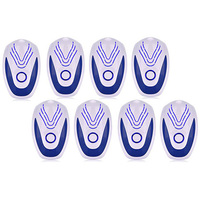 8Pcs Ultrasonic Mice Repeller Electronic Ultrasound Mouse Rejector Anti Mosquito Repellent Cockroach EU Plug