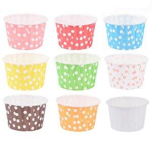Image 5 - 48pcs cupcake כוס אפיית אניה cupcake נייר מקרי מאפין עוגת תיבת כוס ביצת עוגות מגש עוגת עובש לקשט כלים