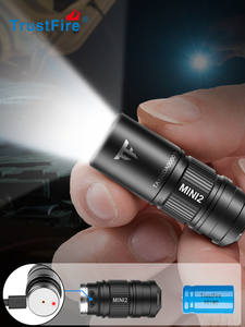 Trustfire Led Flashlight Keychain IPX8 Rechargeable Lumens Edc-Lamp 250 Usb-Powered-250