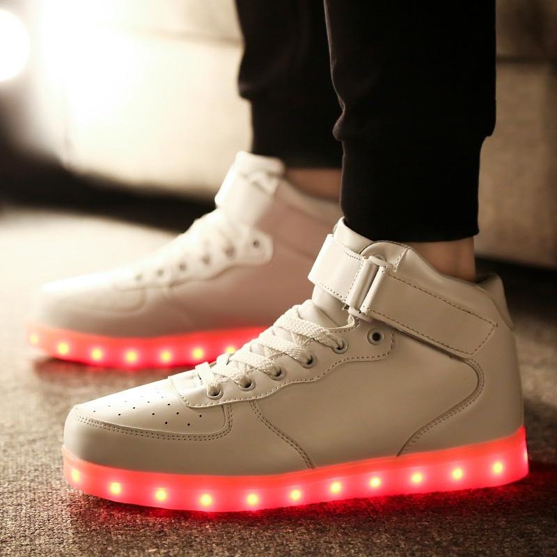 Мужские и женские кроссовки со светодиодной подсветкой RayZing, вечерние светящиеся кроссовки с зарядкой от USB для взрослых, свадебная обувь