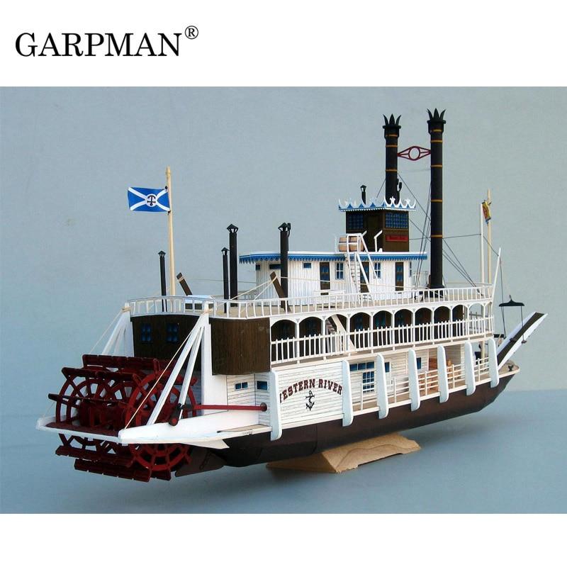 Mississippi Ming Wheel SteamShip Scanning Version 3D Paper Model DIY Handmade Toy