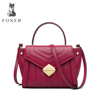 FOXER luxury high quality popular bag female 2019 new wings package Korean version of the tide leather portable Messenger bag fa