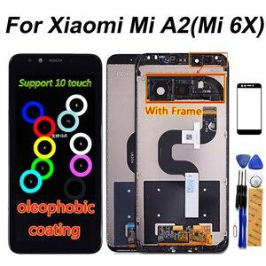 Image 1 - 5.99 Inch Lcd scherm Voor Xiao Mi Mi A2/6X Display Touch Screen Digitizer Vergadering Frame Voor Xiao Mi mi 6X Lcd 2160*1080