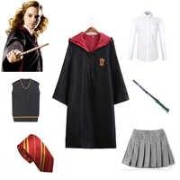 Gryffindor Uniform Hermine Granger Cosplay Kostüm Kind Erwachsene Version Halloween Wizard für Harri Kostüme