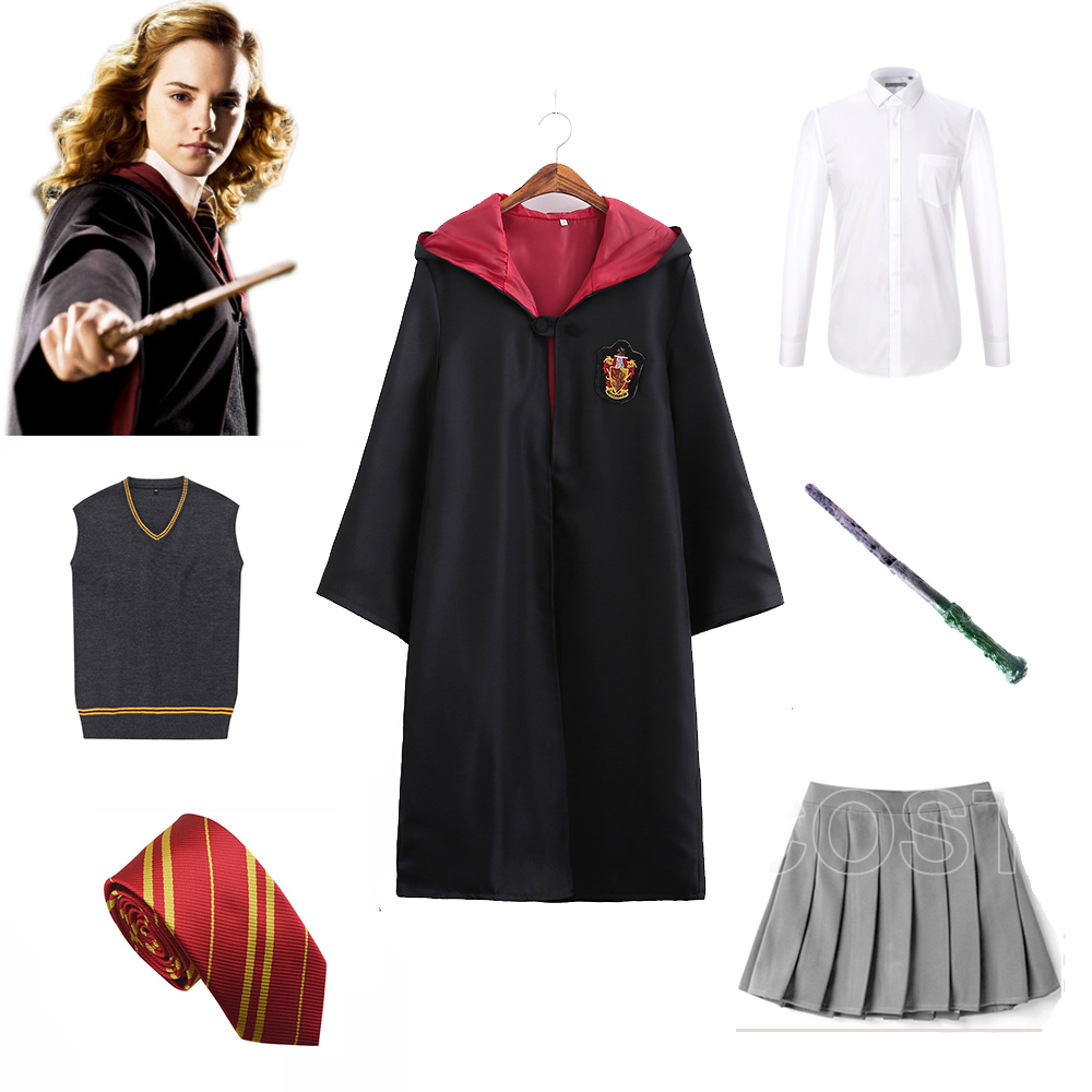 Gryffindor Uniform Hermione Granger Cosplay Costume Child Adult Version Halloween Wizard For Harri Costumes