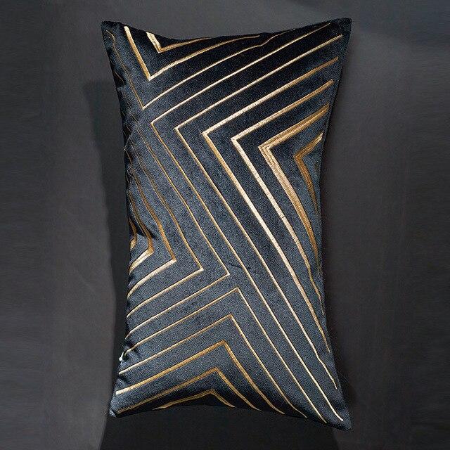 Coussin rectangulaire satiné décoratif
