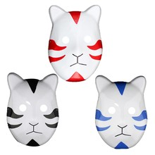 3 Color Naruto Kakashi Anbu Ninja Style Mask, Fancy Dress, Cosplay Accessories, Costume Halloween Anime Manga(China)