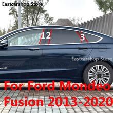 For Ford Fusion Mondeo 2020 2019 2018 Car Middle Column PC Window Trims Decoration B C Pilar Strip Sticker 2017 2016 2013 2015