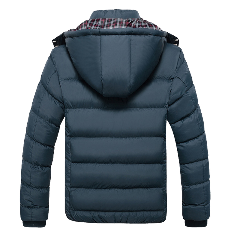 Image 3 - 2019 New Men Winter Jacket Coats Quality Cotton Padded Hooded Wadded Thick Warm Outerwear Casual Male Parkas XL 4XL-in Parkas from Men's Clothing
