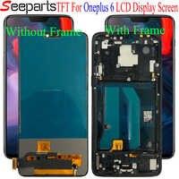 """TFT Für Oneplus 6 LCD Display Touchscreen Digitizer Montage 1 + 6 Bildschirm mit rahmen 6,28 """"Für Oneplus6 bildschirm Ersatz"""