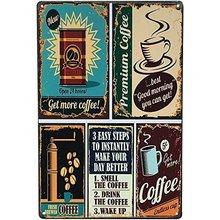 Кофе можно узнать свое меню кофе винтажный Ретро металлический