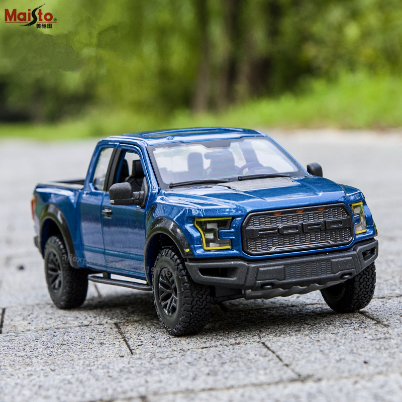 Maisto 1:24 Ford Raptor F150 Off-road Pickup Racing Convertible Alloy Car Model Simulation Car Decoration Collection Gift Toy