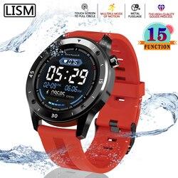LISM Smart Watch Men Bracelet Fitness Activity Tracker Women Full Touch Screen Smartwatch Band Heart Rate Monitor Sport Watch