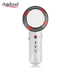 US Warehouse 3in1 Ultrasonic EMS Infrared LED Beauty Machine Ultrasound Cavitation EMS Body Slimming Massager with Electrode Pad
