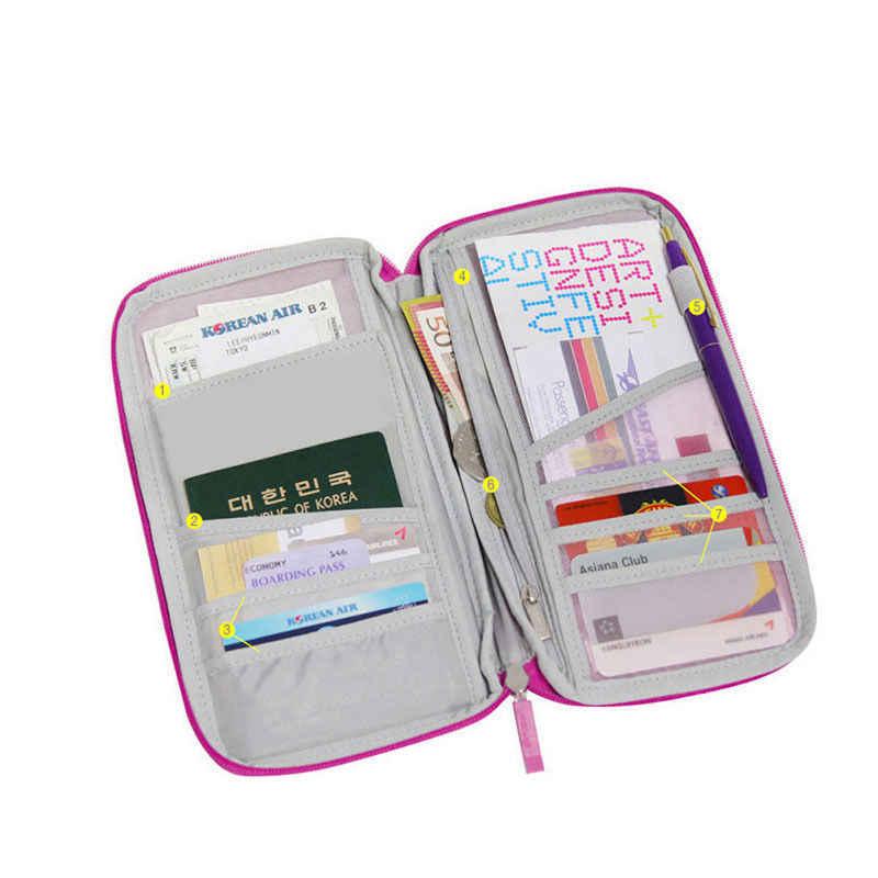 Perjalanan Dompet Paspor Kartu Kredit Uang Organizer Pemegang Tas Dokumen Multifungsi Dompet Dompet Perjalanan Pack Kopling Mujer