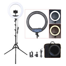 FOSOTO RL-18II Photographic Lighting 512 Led Ring Light Tripod 3200-5600K Ring Lamp Stand For Camera Photo Studio Phone Makeup(China)
