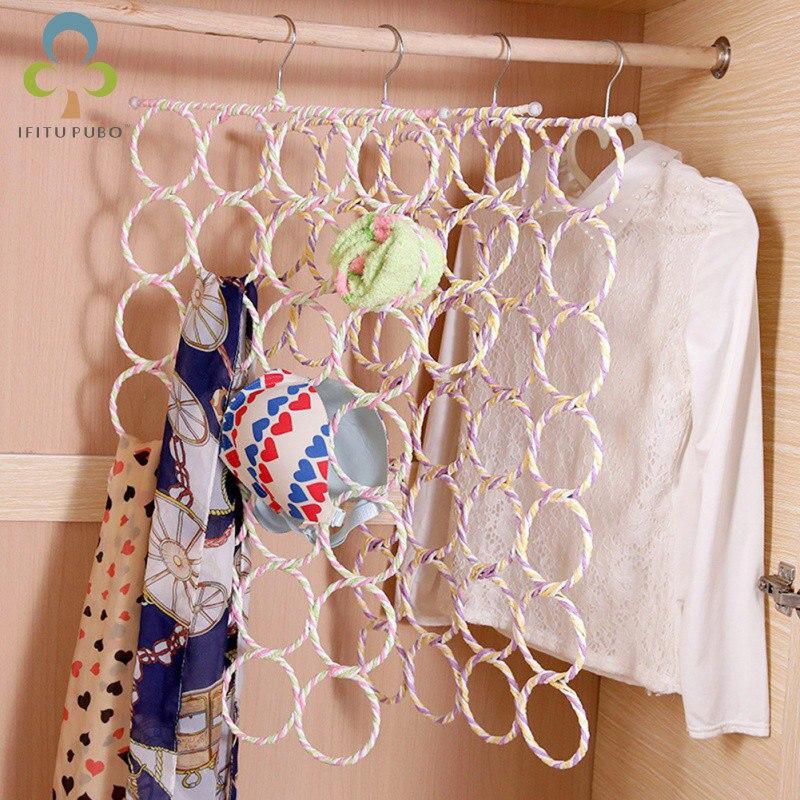 Хохлатная бумажная Вешалка из ротанга, подставка для полотенец и шарфов, витрина для галстуков, стойка для хранения шарфов LXX