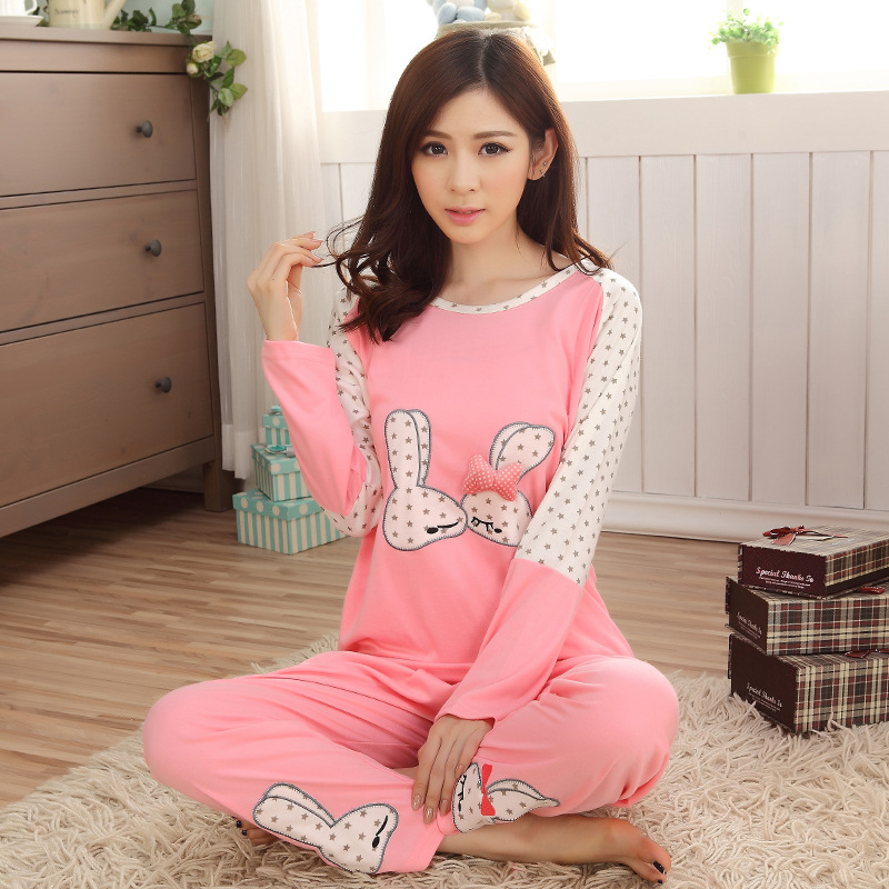Tracksuit Pajamas Autumn And Winter 805 # Japanese Korean Korean-style WOMEN'S Long Sleeve Trousers Hoodie Spring And Autumn Car