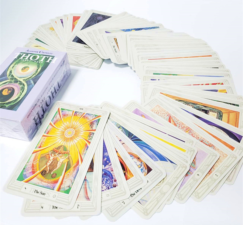 78pcs/set Thoth Tarot Cards Divination Board Game Card Set All In English