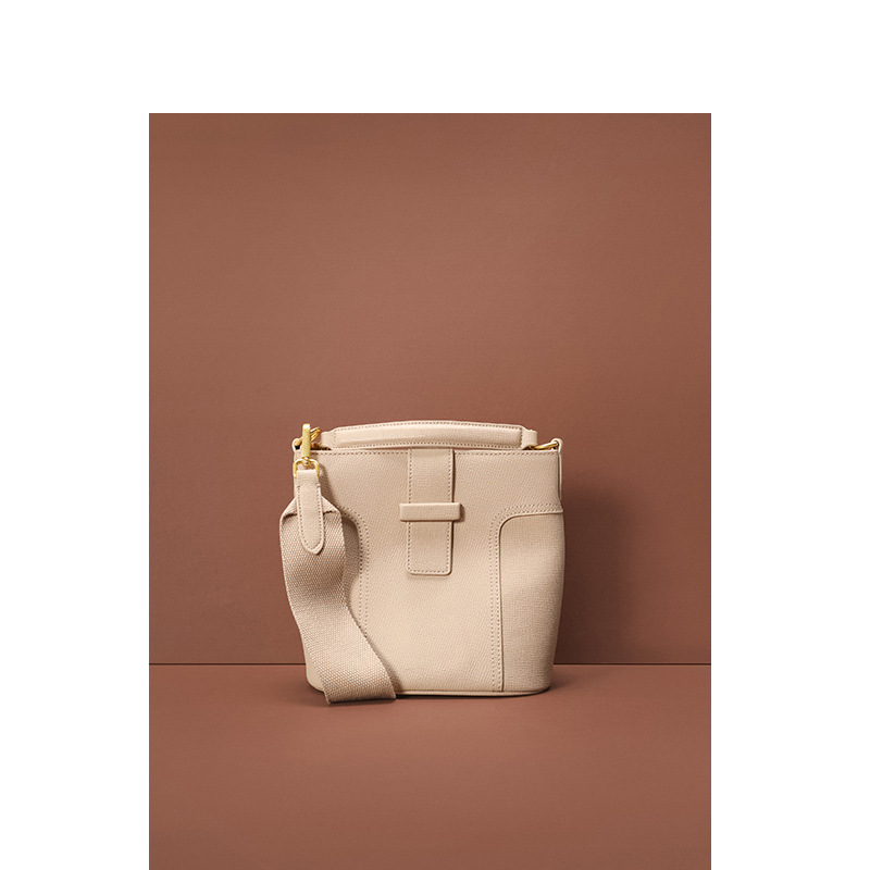 Fashion Driveway Sewing Leather Women's Bag Lychee Grain Single Shoulder Handheld Bucket Bag Woman 2019 Oblique Satchel Bag
