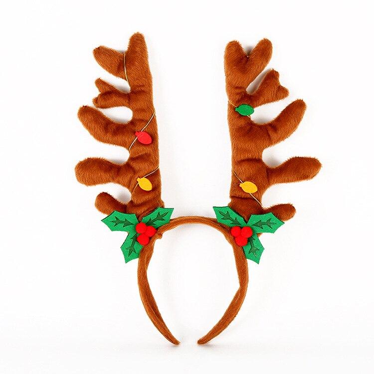 Feather Xmas Headwear GiftsMA Hoop Hair Band Christmas Headband Clasp Head