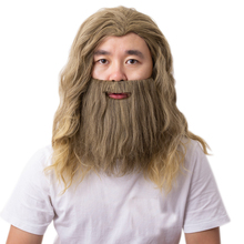 Карнавальный костюм Тора эндшпиль, парик с бородой, вечерние парики для Хэллоуина