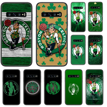 CELTICS BOSTON cassa Del Telefono Per Samsung Galaxy S 10 20 3 4 5 6 7 8 9 Plus. E Lite uitra nero hoesjes pittura copertura cellulare 3D coque(China)