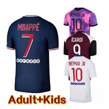 2020 2021 Mbappe uomo manica corta Neymar Cavani 20 21 vertopi Kimpembe Di Mariia T-Shirt per adulti