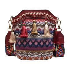 Винтажная вышитая сумка тоут в стиле бохо мессенджер через плечо