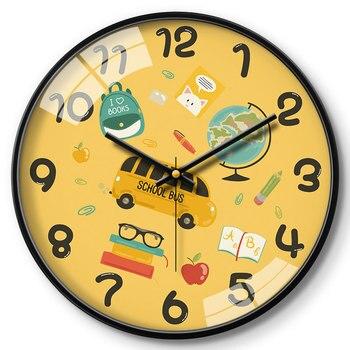 Glass Wall Clock Kids Bedroom Cartoon Modern Design Wall Clocks Decorative Watch Kids Living Room Wall Clock Decor 2020 II50BGZ
