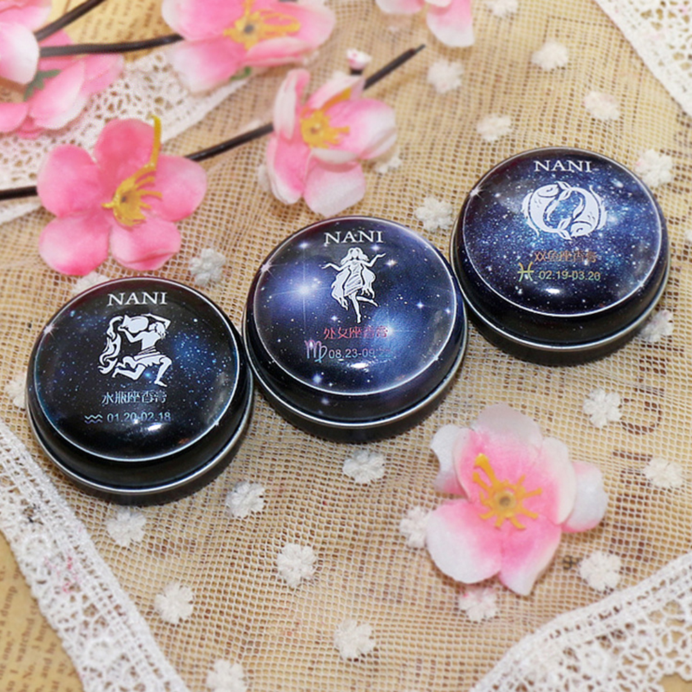 Solid Perfume Portable Skin Care Long-lasting Women Men 12 Signs Charm Essential Oil Body Romantic Deodorant Non-alcoholic Balm 3