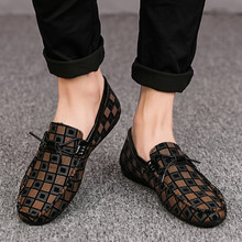 Plaid Four Seasons Wild Peas Shoes Breathable Comfortable Lightweight and Soft M