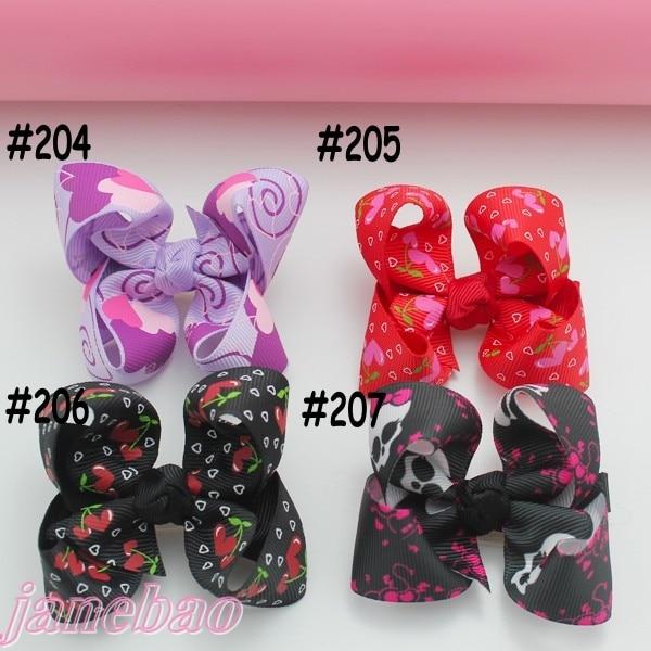 45ps Разноцветные 3 ''модный бутик заколки для волос для детей ясельного возраста волос бантики, аксессуары для волос с леопардовым принтом персонажа из ленты