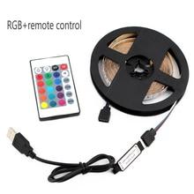 USB LED Strip Lamp RGB 3528SMD DC5V Flexible Light Diode Tap