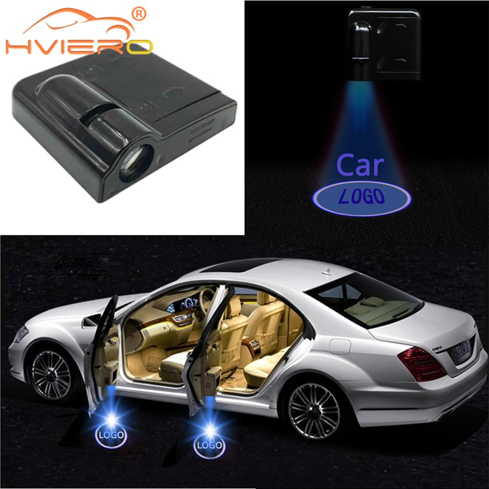 Car Led Wireless Car Door Logo Light Welcome Decor Lamp Laser Shadow Lamp Projector Light Atmosphere Car Light Car Accessories