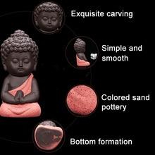 Керамический маленький монах декоративная фигурка для дома статуя Будды украшение для автомобиля гостиной Чайный домик J99Store