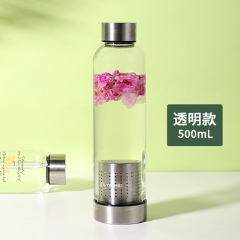 Custom Drinking Water Bottle Chilly Tea Glass Children Reusable Drink Bottle Custom Crystal Borraccia Termica Home Decor JJ60WB