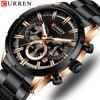 Люксовый бренд CURREN спортивные часы мужские кварцевые наручные часы с хронографом со светящимися стрелками 8355 модные часы из нержавеющей стали