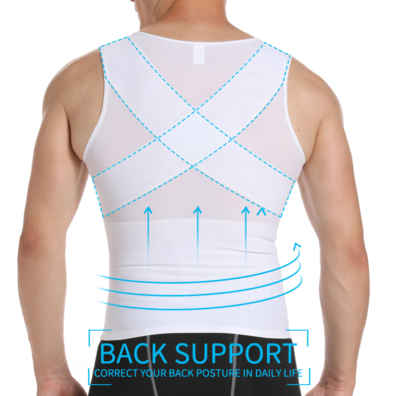 Image 3 - Mens Slimming Body Shaper Gynecomastia Compression Shirts Tummy Control Shapewear Chest Abs Slim Vest Waist Trainer Male Corset-in Shapers from Underwear & Sleepwears