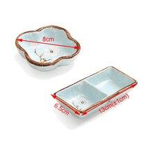 1 PC Creative ceramics  seasoning small dish Round Polygon square Japanese style color sauce sauce dish seasoning plate