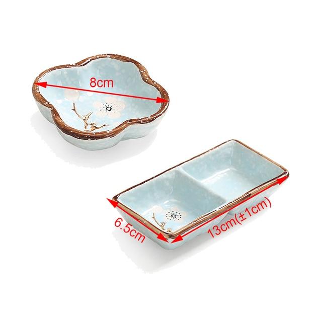 1 PC Creative ceramics  seasoning small dish Round Polygon square Japanese style color sauce sauce dish seasoning plate 4