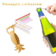 Bottle-Opener Kitchen-Bar-Gadgets Fruit Beer Pineapple-Shape Gold Opening-Tool Glass-Cap