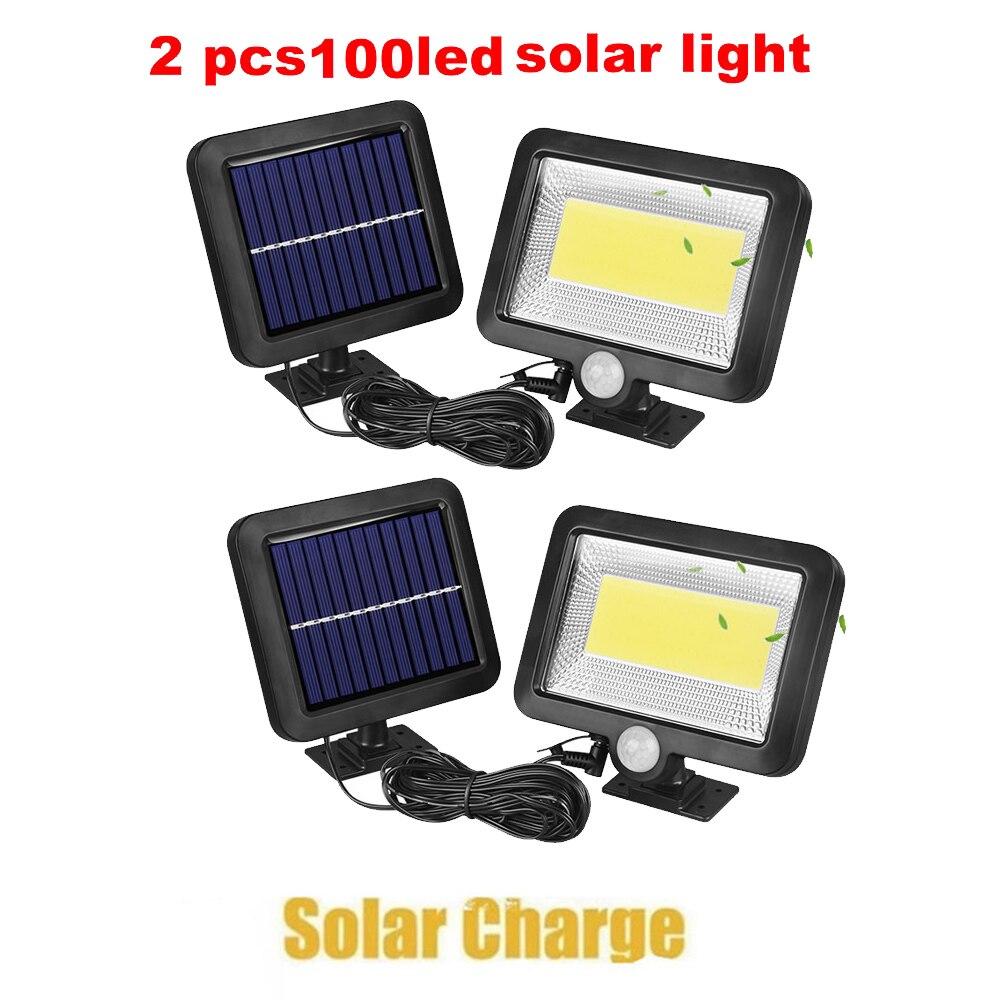 2/4pcs Outdoor Street Waterproof Wall Lights 100/56/30 LED Solar Power Street Light PIR Motion Sensor Light Garden Security Lamp
