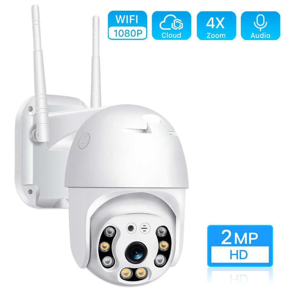 HD 1080P Dual Antenna Wifi PTZ IP Camera Outdoor Color Night Vision Cloud Wireless IP Cam 2MP Home Security Camera Webcam ICSee