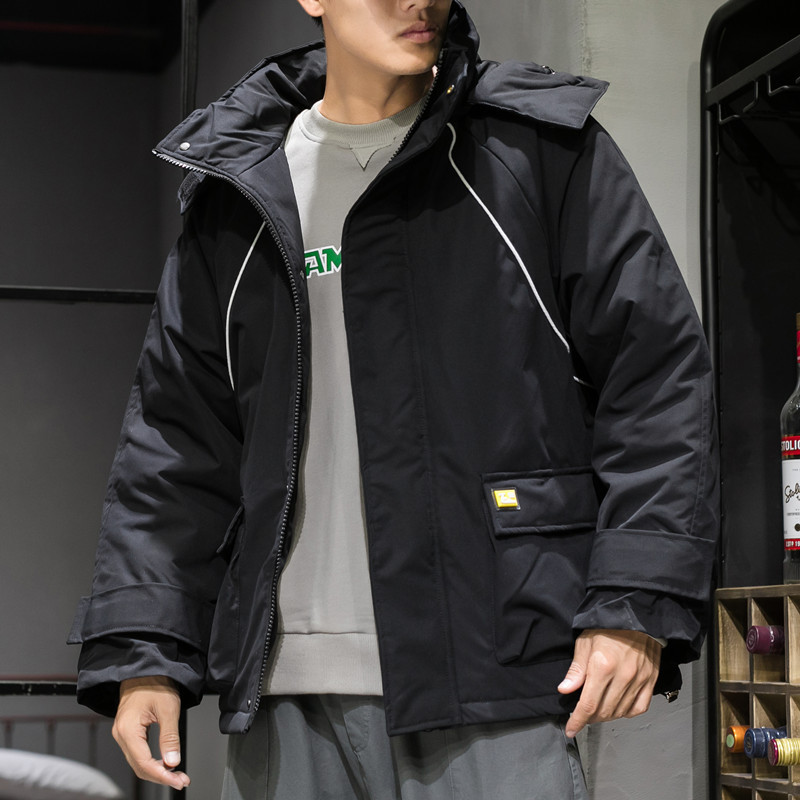 The Xu Men'S Wear | 2019 Autumn And Winter Thick Cotton Coat Men's Popular Brand Japanese-style Loose And Plus-sized Hooded Cott